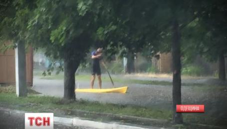 В Измаиле наводнение остановило движение транспорта