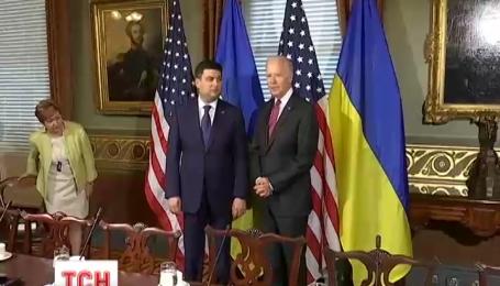 Джо Байден пообещал премьеру Владимиру Гройсману средства на проведение реформ