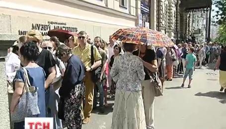Украинцы выстаивают очереди, чтобы увидеть итальянские шедевры в музее Ханенко в Киеве