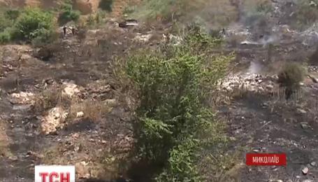На Миколаївщині загорілося сміттєзвалище