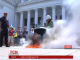 В Одесі запалили шини під стінами міської ради