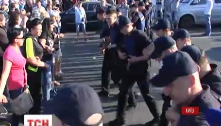 Вследствие протеста против сноса МАФов произошла потасовка