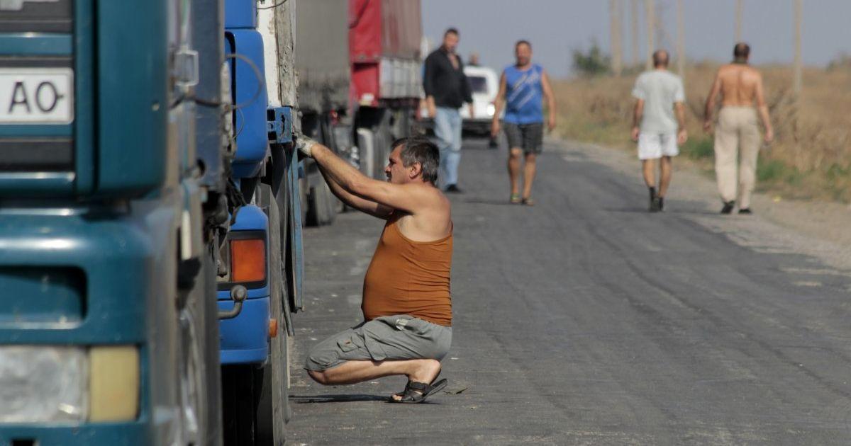 Россия остановила на границе украинские фуры, следующие в Казахстан