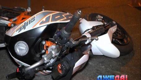 В Киеве мотоциклист-неудачник пытался установить новый рекорд скорости