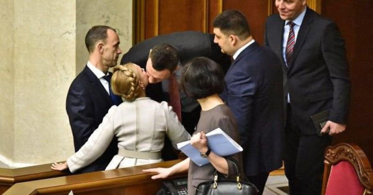Виталий Кличко и Юлия Тимошенко