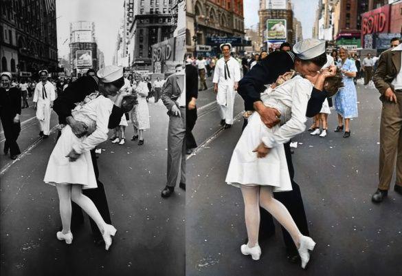 поцылунок на Таймс-сквер