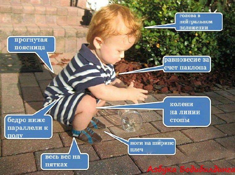 Дитина, присідання, для блогів