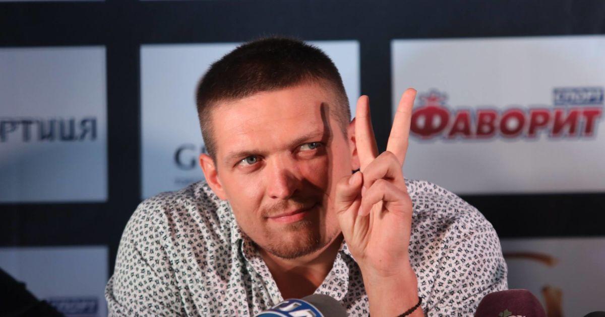 Прес-конференція Олександра Усика і Кшиштофа Гловацьки у Києві, 7 липня. @ k2ukraine.com