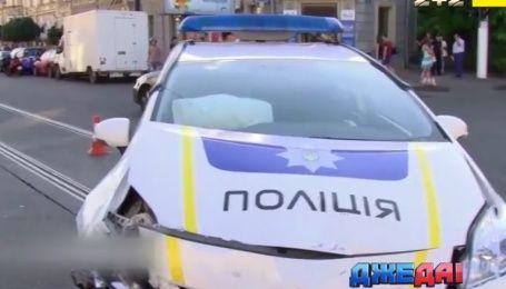 Патрульные в Одессе спровоцировали тройную аварию