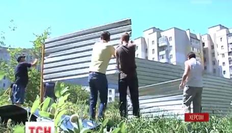 Ветераны АТО присоединились к борьбе с незаконным строительством в Херсоне