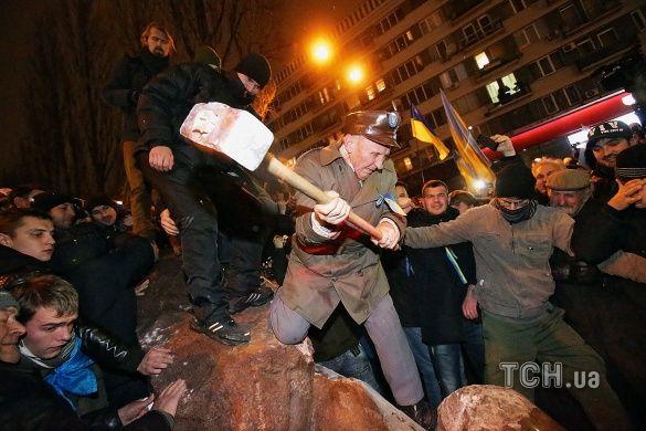 Знесення Леніна в Києві