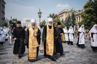 Как прошел Крестный ход в Киеве: металлоискатели, перекрытые улицы, тысячи паломников и полицейских
