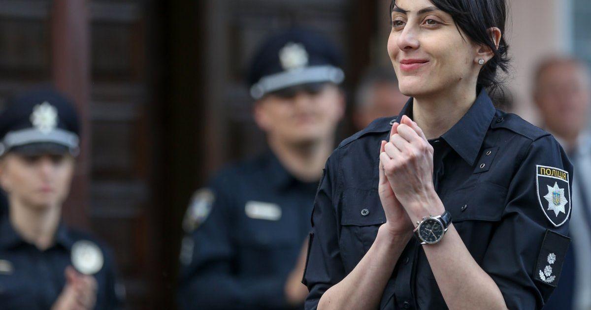 Деканоідзе виїжджала на патрулювання у Дарницькому районі Києва