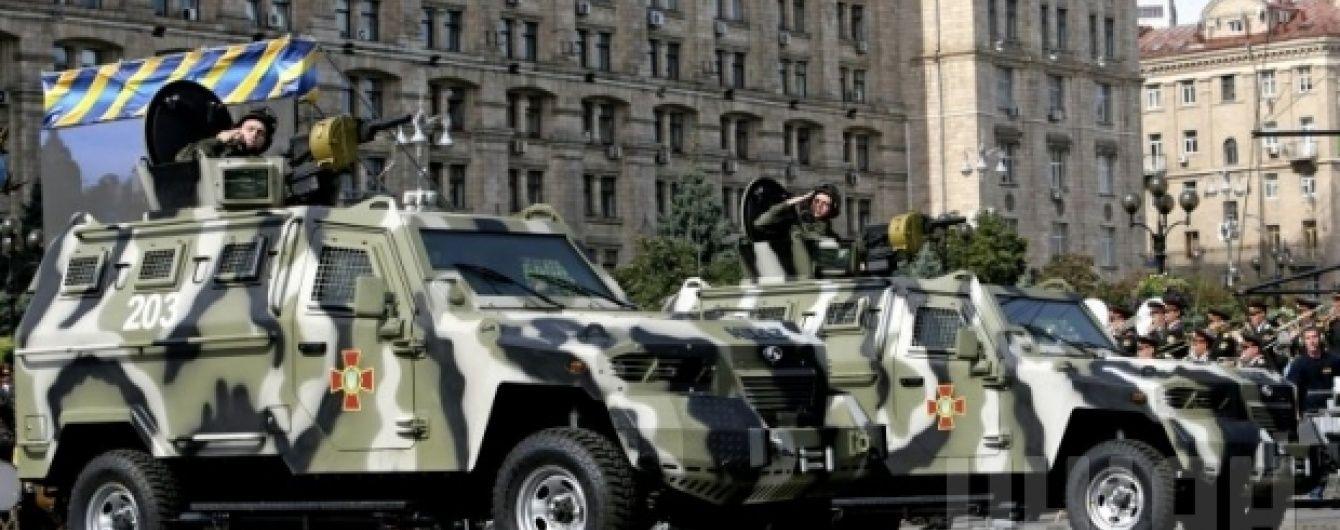 На День Незалежності Києвом пройдуть понад 200 одиниць військової техніки