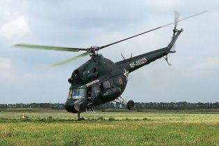 В России упал вертолет Ми-2