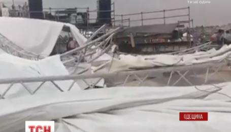 В Одесской области сильный ураган напугал отдыхающих, есть пострадавшие