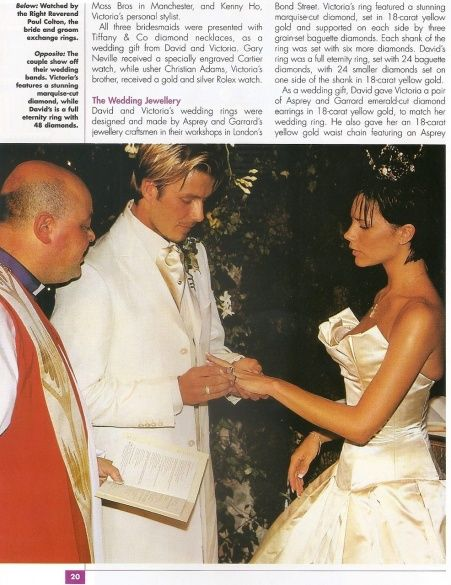 свадьба Бекхэмов