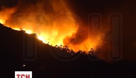На испанском острове Пальма бушует пожар