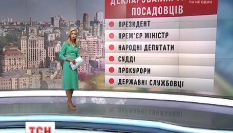 С 15 августа украинские чиновники будут декларировать доходы в Интернете