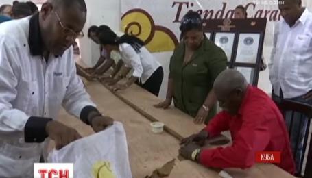 На Кубе для Фиделя Кастро скрутили самую большую в мире сигару
