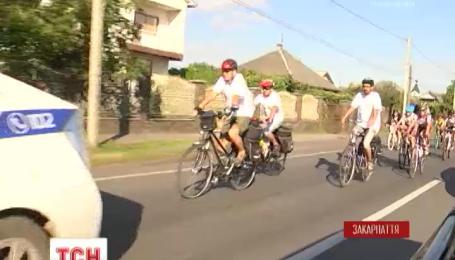 В Ужгороде стартовал велопробег ко Дню Независимости Украины