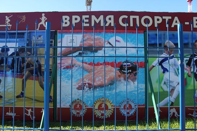 Майкл Фелпс на російському банері _2