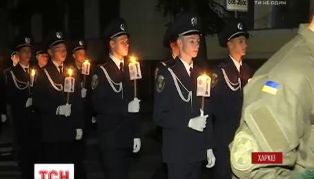 В Харькове правоохранители устроили факельное шествие