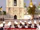 На Софійській площі розпочалася урочиста церемонія підняття прапора