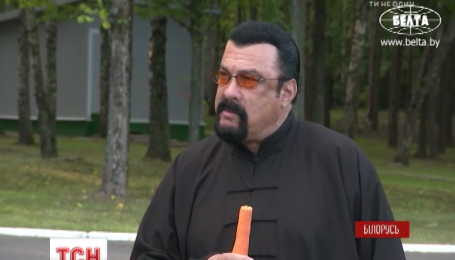 Александр Лукашенко накормил Стивена Сигала свеженькой морковью