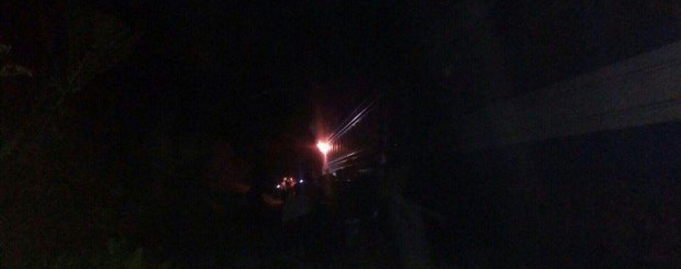 На Львівщині загорівся поїзд
