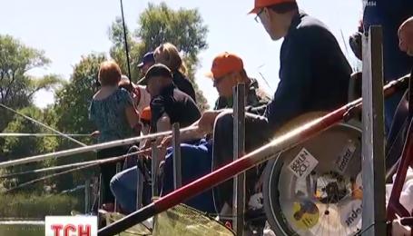 В Киеве прошел чемпионат по рыбалке для людей с ограниченными физическими возможностями