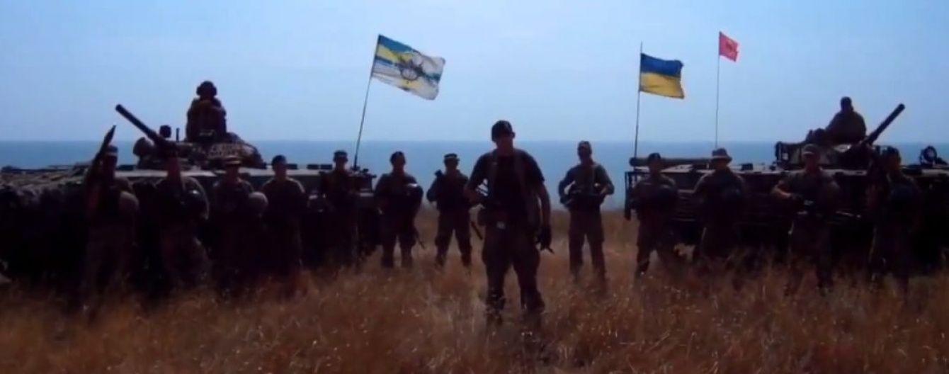 """Чекають на команду """"Вперед!"""": українські морпіхи облаштувалися біля Комінтернового"""