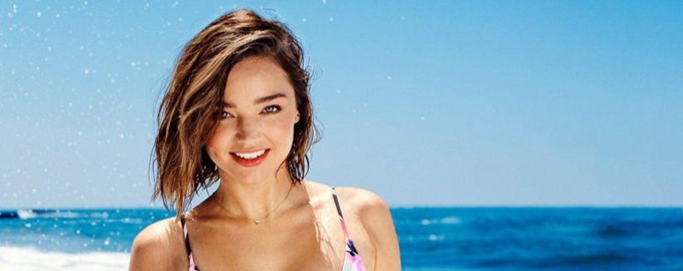 Миранда Керр сверкнула безупречной фигурой в рекламе купальников