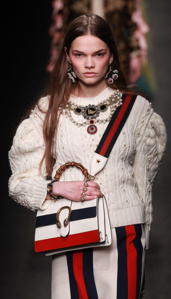 4f5bb1a63dc8 Коллекция Gucci прет-а-порте сезона осень-зима 2016-2017 @ Getty  Полноэкранный режим