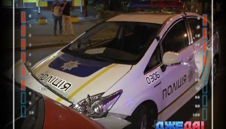 Очередная авария с участием полицейских, копы в Киеве разбили 5 авто