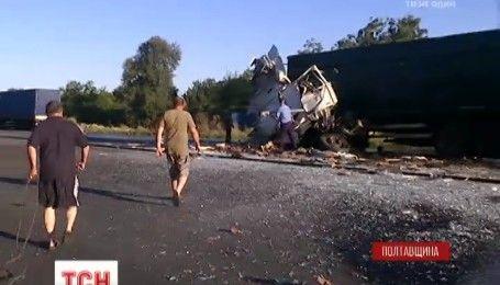 Моторошне ДТП на Полтавщині: 2 фури зіткнулися лоб в лоб