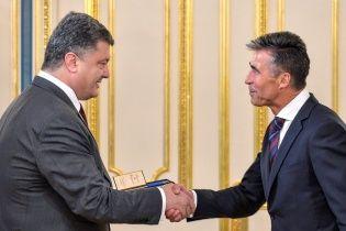 Расмуссен назвал плохой идеей открытие базы НАТО в Украине