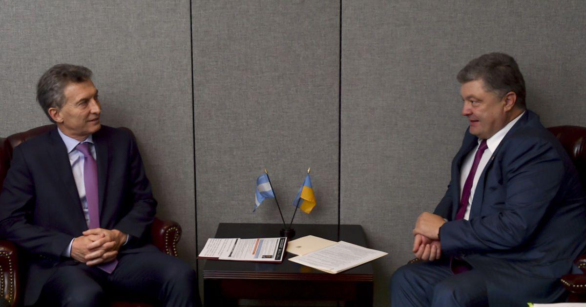 Порошенко з президентом Аргентини Маурісіо Макрі @ Сайт президента України
