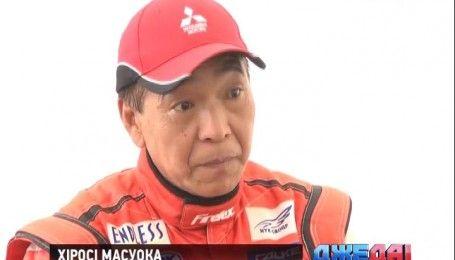 Легенда автогонок Хироси Масуока провел в Киеве мастер-класс по экстремальному вождению