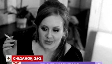 Певица Адель жалеет, что бросила курить