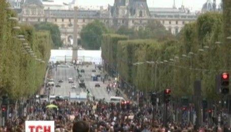 """В Париже провели акцию """"День без авто"""""""