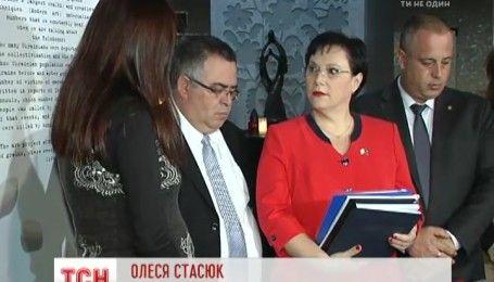 Члены делегации депутатов Кнессета начали недельный визит в Киев с экскурсии в Музей Голодомора