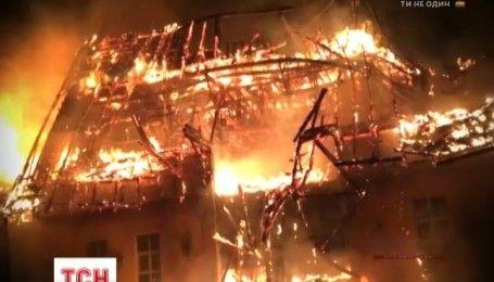 Ночью на Закарпатье горел оздоровительный комплекс