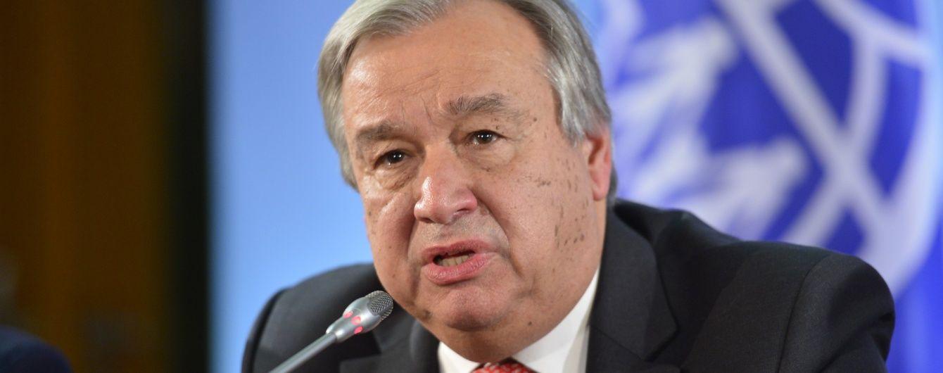 Генсека ООН призвали во время визита в РФ поговорить с Путиным об украинских политзаключенных