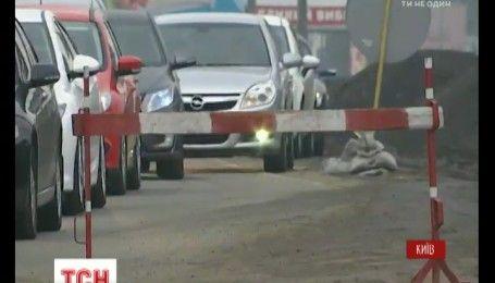 Ремонт дорог и ДТП остановили движение на основных магистралях Киева