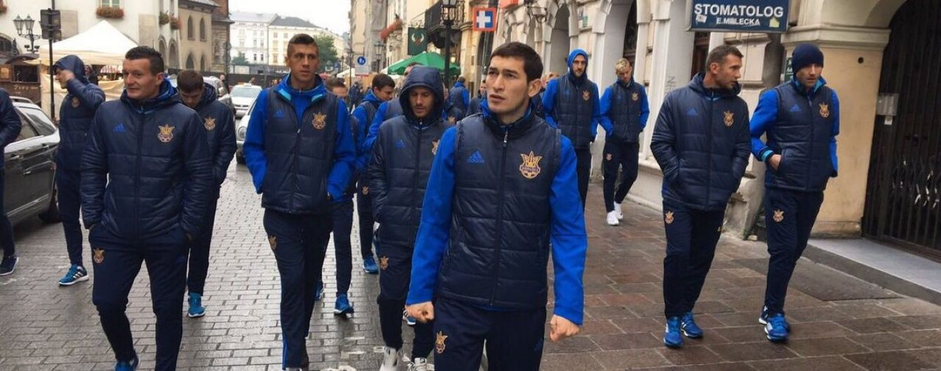 Гравці збірної України прогулялися ранковим Краковом