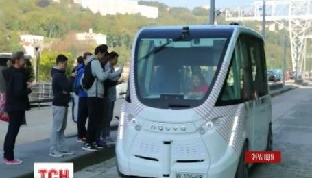 У Франції випустили на вулиці безпілотний автобус