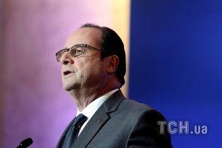 Олланд підтримав ініціативу введення миротворців на кордоні між Україною та Росією