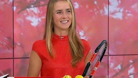 """Одна з кращих тенісисток світ Еліна Світоліна показала майстер-клас у студії """"Сніданку"""""""