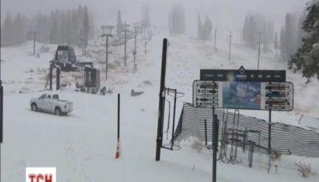 В горах Калифорнии выпал снег